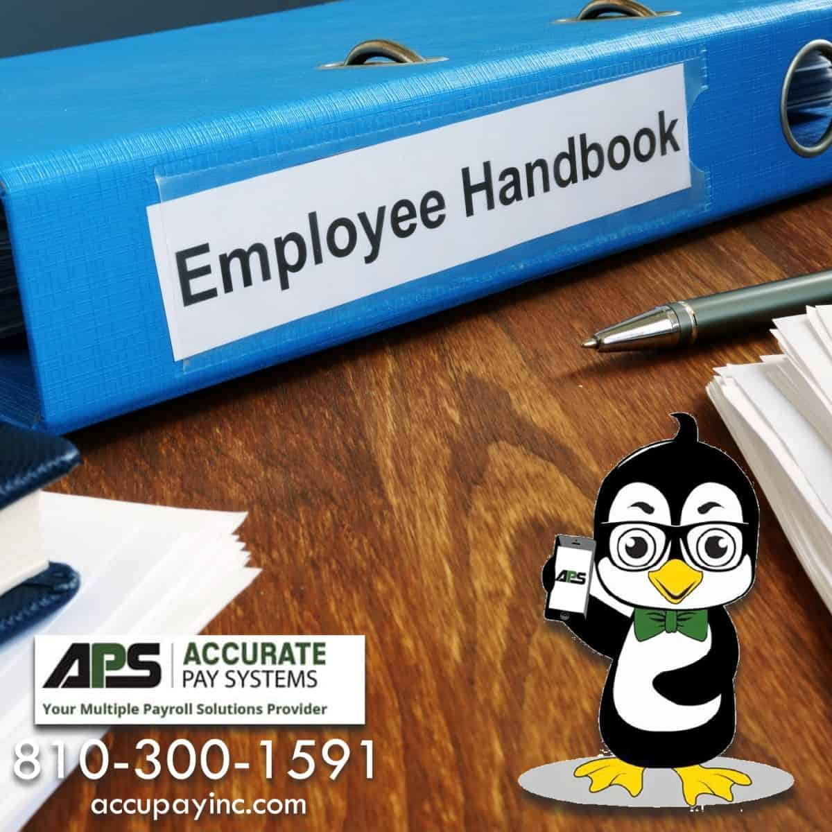 Employee handbook from Accurate Pay Systems