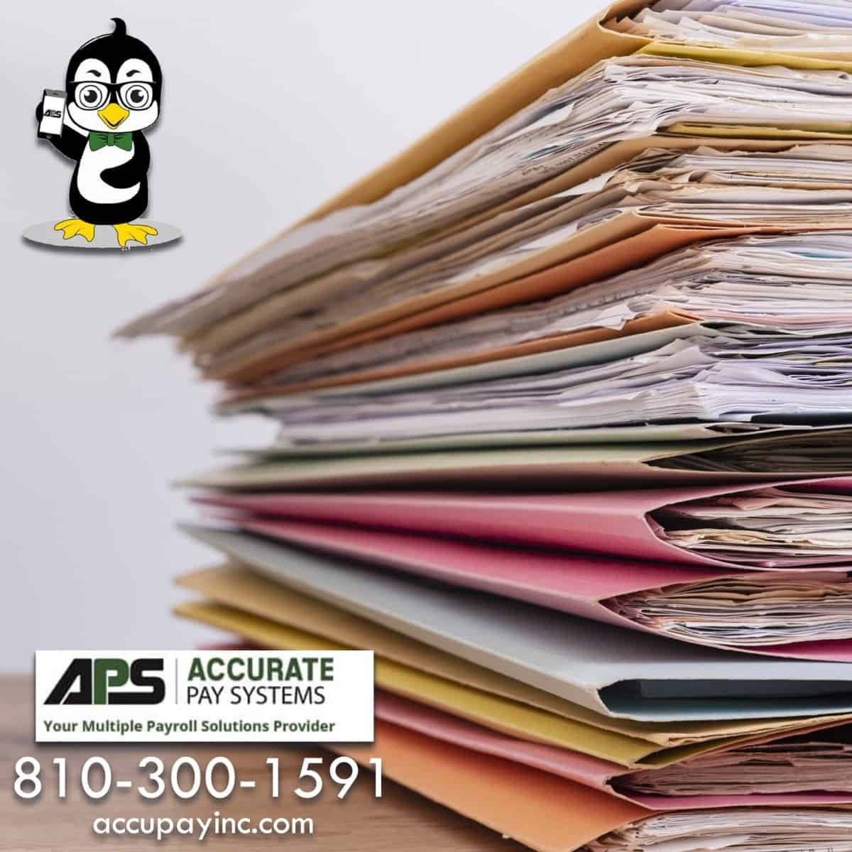 Employee file management from Accurate Pay Systems