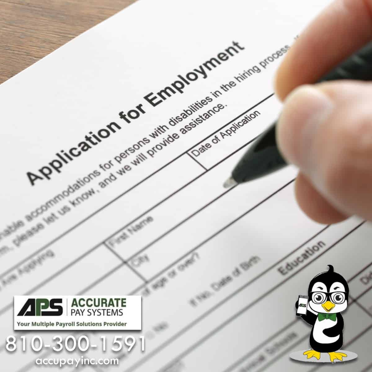 Equal Employment Opportunity from Accurate Pay Systems, Inc.